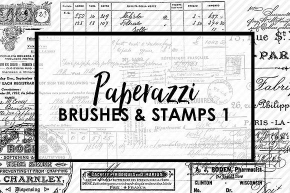 Paperazzi Ephemera Brushes & Stamp 1