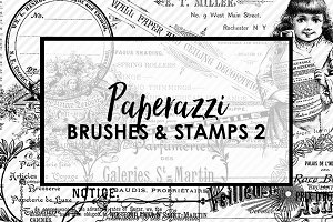 Paperazzi Ephemera Brushes & Stamp 2