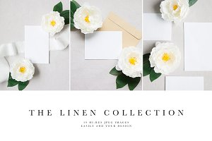 Linen Wedding Stationery Mockups