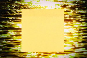 A yellow post-it