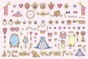 ♥ vector Wonderland color items 05