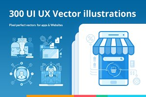 300 UI UX Illustrations