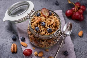 Healthy vitamin granola snack