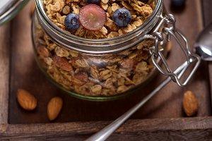 Granola healthy oat snack