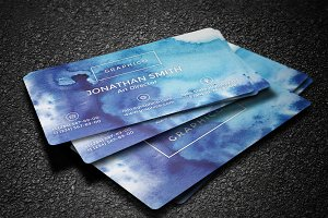 Simple Watercolor Business Card - 17