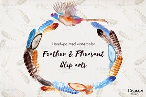 Feathers & Pheasant Wreath+ ABR