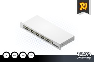 Isometric Switch with SFP Port