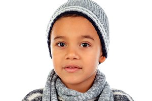 Beautiful child with wool cap