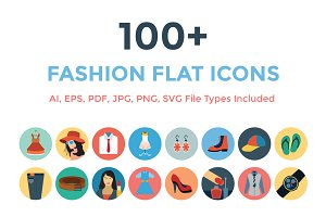 100+ Fashion Flat Icons