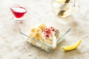 cottage cheese with banana