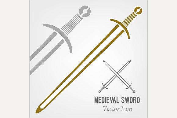 Medieval Sword Icon