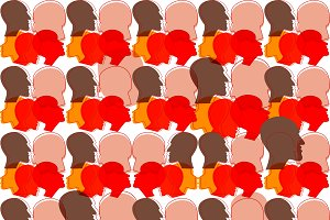 Seamless pattern of a crowd