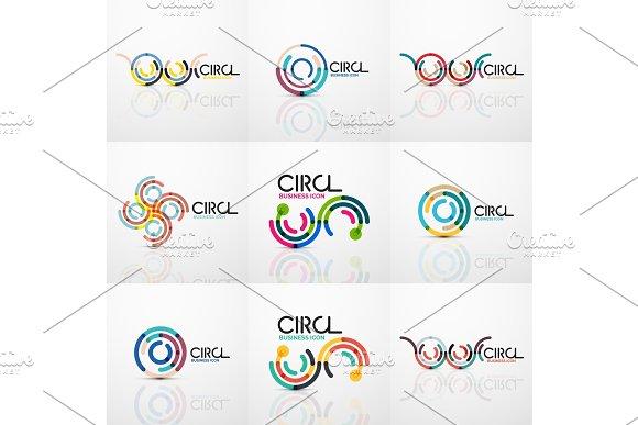 Set Of Line Circles Logos