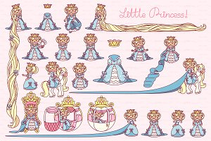 ♥ vector  Little Princess blue 1