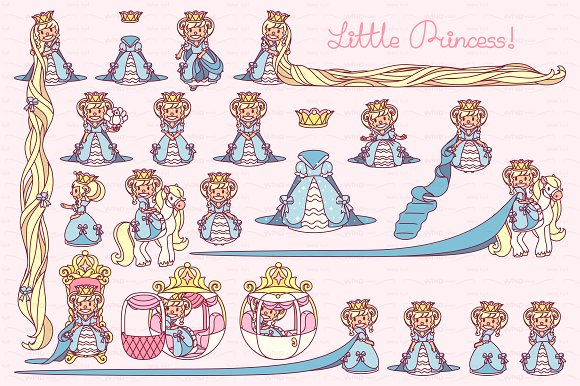 Vector Little Princess Blue 1