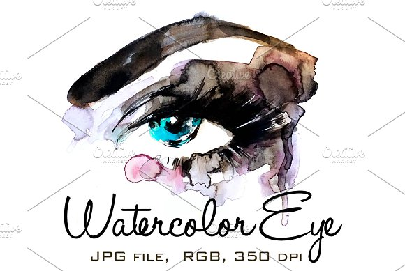 Watercolor Eye 2