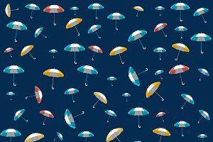 Umbrella seamless pattern design