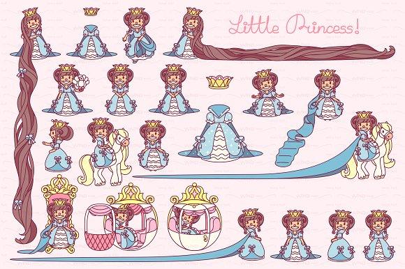 ♥ vector  Little Princess blue 2