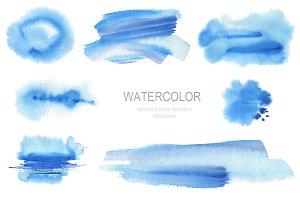 blue watercolor blots