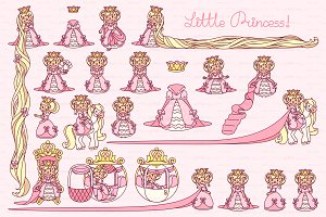 ♥ vector  Little Princess pink 1