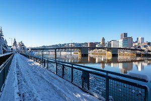 Downtown Portland and Walkway