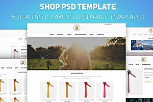 Shop PSD Template