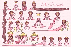 ♥ vector  Little Princess pink 2