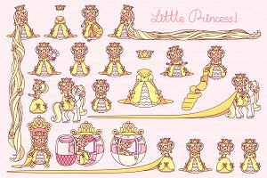 ♥ vector  Little Princess yellow 1