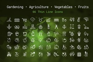 Gardening & Agriculture Linear Icons