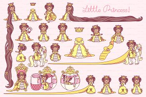 ♥ vector  Little Princess yellow 2