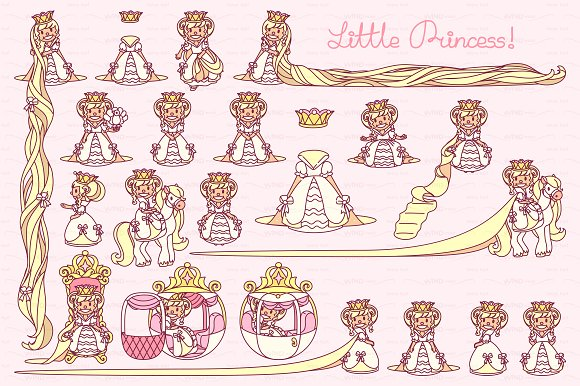 Vector Little Princess White 1