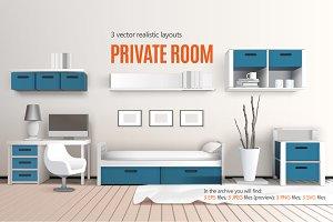 Bedroom Realistic Set