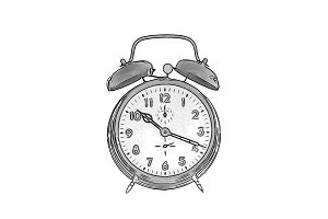 Drawing of an alarm clock