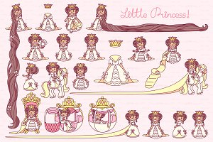 ♥ vector  Little Princess white 2