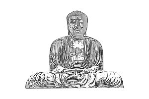 Drawing of a Buddhist