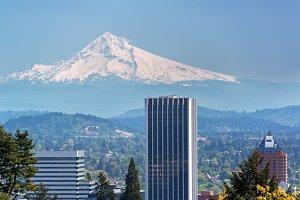 Mount Hood and Portland