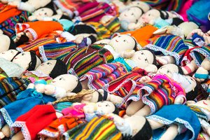 Souvenir Dolls in Otavalo