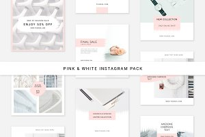 Pink & White Instagram Pack
