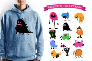 Cute Monsters characters bundle