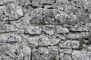Gritty Gray Stone Wall Texture