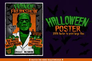 Halloween Flyer & HUGE Vector Poster