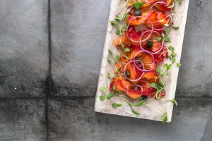 Gravlax - cured in salt salmon or trout