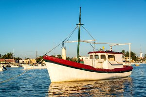 Boat and Reflection in Rio Lagartos