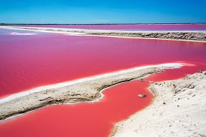 Red Pool for Salt Production