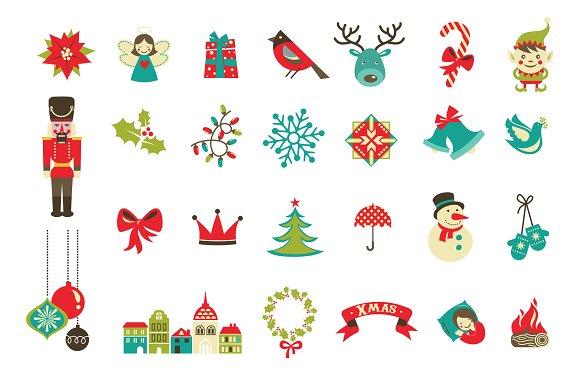 Christmas Alphabet.Christmas Alphabet Poster Elements