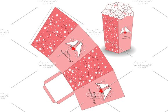 Popcorn template for valentines day illustrations creative market popcorn template for valentines day illustrations pronofoot35fo Image collections
