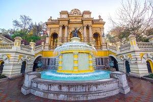 Fountain in Santiago, Chile