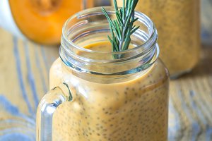 Pumpkin chia seed pudding