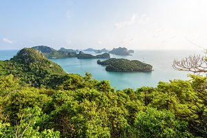 High angle view Mu Ko Ang Thong