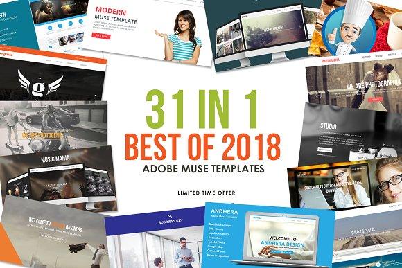 2018 Best Adobe Muse Templates